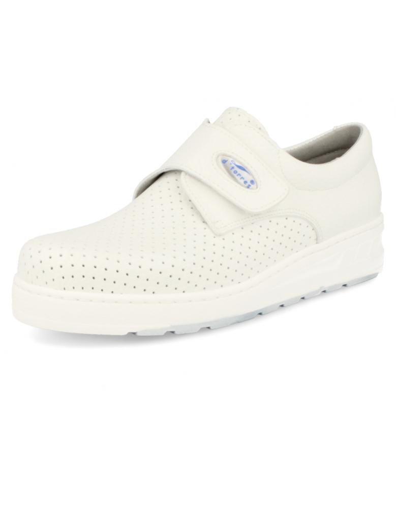 Medic velcro picado blanco zapatos de trabajo muy c modos for Zapatos de trabajo blancos