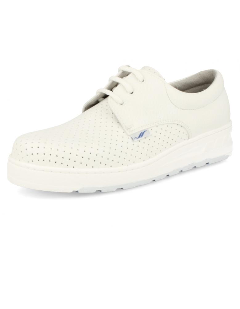 Medic picado blanco zapatos de trabajo muy c modos y seguros for Zapatos de trabajo blancos