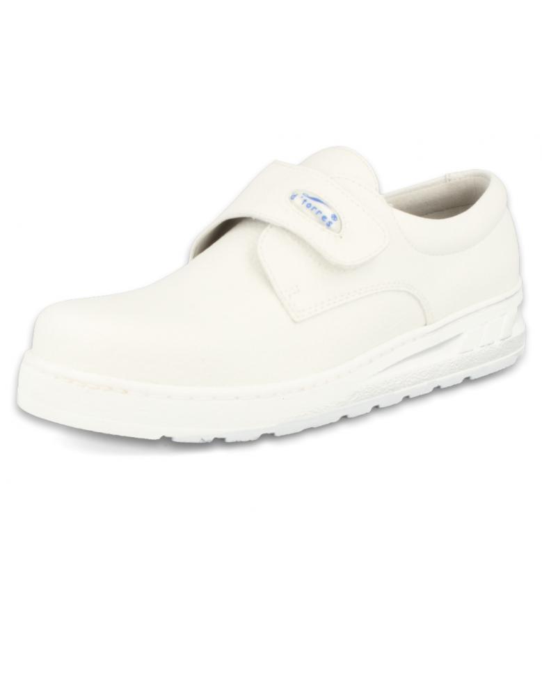 Medic velcro blanco zapatos de trabajo muy c modos y seguros for Zapatos de trabajo blancos