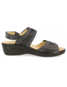DELICATED FEET WOMEN SANDALS, SITGES 01 BLACK