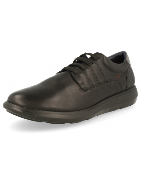 COMFORTABLE MEN'S SHOE, ALEX 01 BLACK