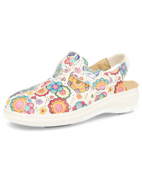 SANITARY CLOGS WITH STRAP, MASTER PLUS FLOWERS