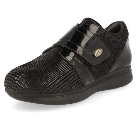 COMFORT WOMEN SHOES, BIMBA 06 VELCRO BLACK