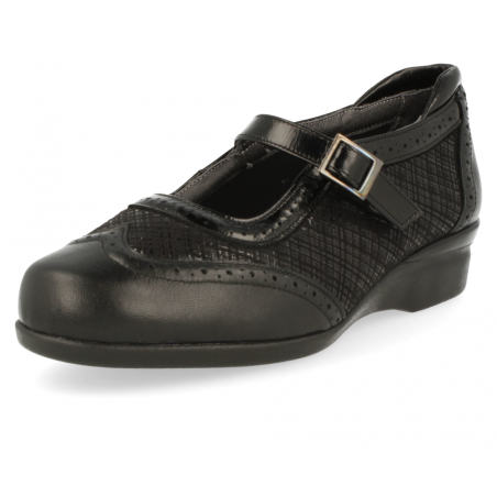 COMFORT WOMEN SHOES, VELEZ E1 BLACK